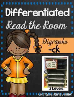 -CK Differentiated Read the Room - With purchase you receive 20 CK word cards and two different choice for a front and back cover. See the preview file for a sample. 12 pages $