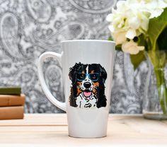 Bernese Mountain Dog Latte Mug