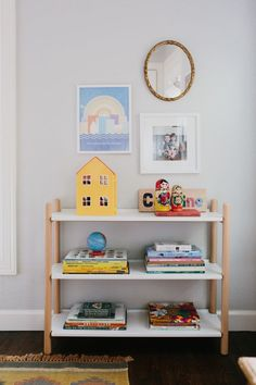 Kid's Room Organization: Caroline's Darling Kid Room - The Effortless Chic #organization #kidroom
