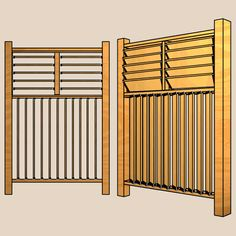 Building a Fully Louvered Fence - 4 ft. Section