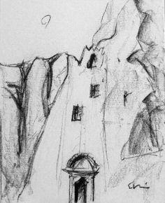 Chozoviotissa monastery 25x50cm