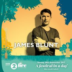 """is set to take the stage for 🎤"""" Bbc Live, James Blunt, Album Releases, Bbc Radio, Sticky Notes, Stage, Tours, Twitter, Movie Posters"""