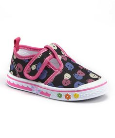 Loving this Papos Fuchsia Skull T-Strap Sneaker on #zulily! #zulilyfinds