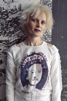 Vivienne Westwood was a punk icon in the 1970s. She was known for her outrageous and sometime vulgar t shirt designs.