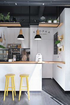 Kropka, Tiny Snack Bar in Poland by PB/Studio and Filip Kozarski.