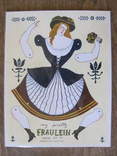 My Pretty Fraulein Jumping Jack Kit von PuppetsbyGretchen auf Etsy, $5.50