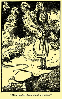 'Alice handed them round as prizes' Illustration by Thomas Heath Robinson from…
