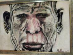 Africano. Acrílico Portrait, Tattoos, Art, African, Art Background, Tatuajes, Kunst, Portrait Illustration, Japanese Tattoos