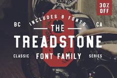Treadstone - 8 Font Family - 30% OFF by Greg Nicholls on @creativemarket