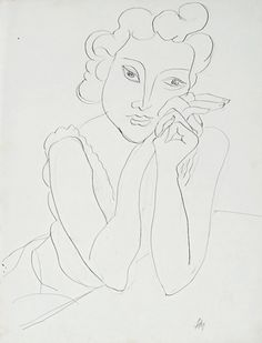 Femme aux mains criosées (Woman with crested hands), 1940 Henri Matisse (1869–1954), pen and ink on paper
