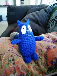 "Sale for the Holidays!! Crocheted ""Peg + Cat"" cat."