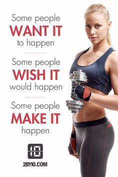 Make it happen. #health #fitness #fit #dedication #workout #motivation #healthy #determination #exercise