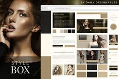StyleBox Blog Graphics/Website Kit 4 by Creators Couture on @creativemarket