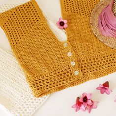 Diy Crafts - D E S t e j e (desteje) Crochet Shirt, Crochet Crop Top, Love Crochet, Crochet Bikini, Knit Crochet, Tunisian Crochet, Crochet Stitches, Drops Cotton Light, Knooking