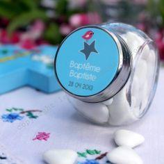 Baptême mini bonbonnière à dragées - Les Petits Cadeaux-