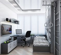 Bedroom Setup, Bedroom Desk, Small Room Bedroom, Room Decor Bedroom, Small Space Interior Design, Home Room Design, Kids Room Design, Home Office Design, Room Interior