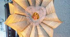 Paperitähti, Jouluaskartelu, Joulu, Tuunaus, Kirjanlehdistä #jouluaskartelu #joulublogi Home Appliances, House Appliances, Appliances