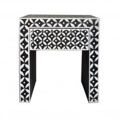 Indian Hand Painted Diamond Lamp Table