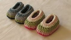 how to crochet toddler slippers - YouTube