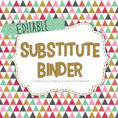 A great substitute binder that is editable!