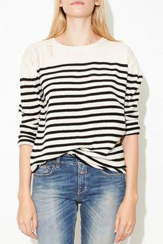 Stripe Shred Shoulder Pull