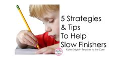 5 easy to implement solutions to help your sweet, but slow finishers, get their work done! Back To School Activities, Teaching Activities, School Ideas, Future Classroom, School Classroom, Classroom Ideas, Class Management, Classroom Management, Good Fit Books