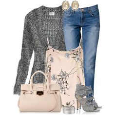 """""""Boyfriend Jeans & Sandals v. 1"""" by jafashions on Polyvore"""