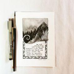 Stanza #3 of the poem for #Inktober illustration #7. 10.07.15 #arhsketches #thehobbit Copyright Amalia Hillmann