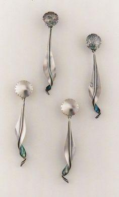 The Jewelry of Ahlene Welsh - Curled Leaf Earrings