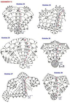 Crochet Christmas ball ornament pattern+ symbol diagram - Her Crochet Crochet Snowflake Pattern, Christmas Crochet Patterns, Holiday Crochet, Crochet Snowflakes, Crochet Doily Patterns, Crochet Chart, Crochet Doilies, Crochet Flowers, Crochet Christmas Decorations