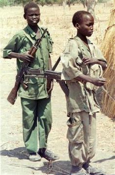 Sudan. Military Use of Children. Although children are used in military roles throughout the world (generally defined as those under 15 years), over half can be found in Africa.