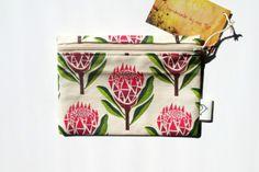 Pretty Proteas Purse by handmade by me on hellopretty.co.za