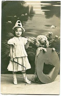 girl and her dog act
