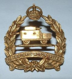 1st ARMOURED MOTOR BATTERY RARE CAP BADGE in Collectables, Militaria, World War I (1914-1918) | eBay