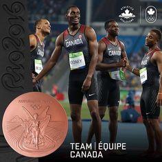 4x100m BRONZE! #TeamCanada #Rio2016 🏃🏼💥🏅 // BRONZE au 4x100 m…