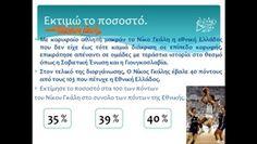 Μαθαίνουμε την έννοια του ποσοστού μέσα από την σύγχρονη ιστορία του ελληνικού μπάσκετ.