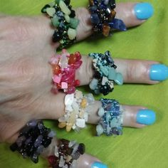 #stretchy #rings #semipreciousstone #funjewelry #cutejewelry #witchythings #funthings #shopsmallbusiness #shopsandsprings