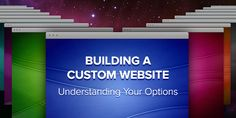 Before you start building your custom website, be sure that you understand all of your options and the usability they offer your site visitors. Custom Website, Marketing Tools, Understanding Yourself, Helpful Hints, Building, Tips, Useful Tips, Buildings, Construction