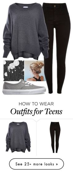 """Happy Teens Scare Me"" by jlol on Polyvore featuring Vans"