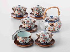 Tokyo Matcha Selection - [SUPER SALE] Arita-yaki Porcelain: PEONY - Kyusu Tea pot, 5 tea cup