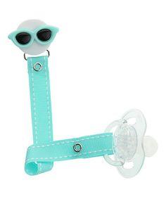 Look at this #zulilyfind! Mint Sunglasses Pacifier Clip #zulilyfinds