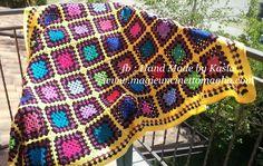 Single blanket Vecchia America; 125 cm x 175 cm; lana vergine, viscosa, acrilico; created by Kasia Waszkiewicz