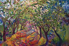 """California Oak Trees Modern Expressionism Landscape Painting Limited Ed Print Giclee by Erin Hanson 30"""" - So in love with this.  I could gaze at it for hours."""