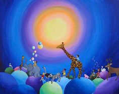 Print of Blue Parade by edieart on Etsy, $20.00