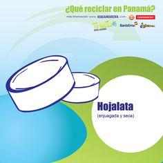HOJALATA! Son las clásicas latas de salsa de tomate, tuna, maíz, hongos, etc...  Sepáralas pa reciclarlas! #YoReciclo