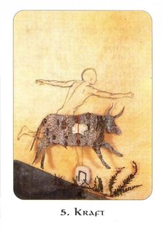 5. Strength - Rune Cards by Ralph Blum Illustrated by Jane Walmsley