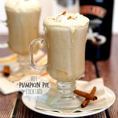 Hot Pumpkin Pie Cocktail. Pumpkin Spice Season is the best time of the year! Best drink ever!!!