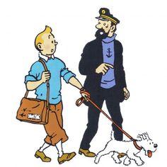 Flight 714      ~~       Tintin, Haddock  &  Milou