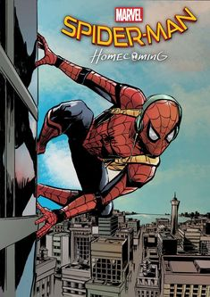 spiderman homecoming on building Marvel Movie Posters, Avengers Poster, Superhero Poster, Comic Poster, Cartoon Posters, Poster Wall, Poster Prints, Collage Mural, Photo Wall Collage