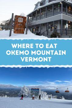 Our ski mama friends shared their favorite places to eat or near Okemo Mountain in Vermont. #okemo Best Places To Travel, Places To Eat, Get Outside, Travel With Kids, Four Seasons, Vermont, Trip Planning, Skiing, Maine